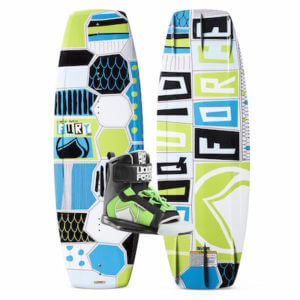 LiquidForce Kids Wakeboard Combo_Fury wakeboard with rant bindings