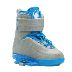 LiquidForce Melissa Bindings Closed Toe Grey and Light Blue