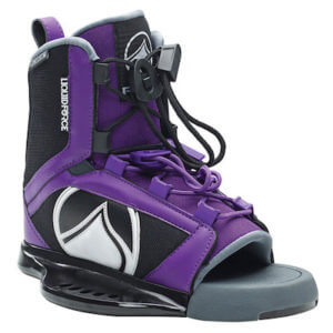 LiquidForce Plush Womens Open Toe Binding black and purple