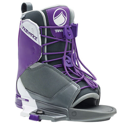 LiquidForce Womens Transit Open Toe Binding grey and purple