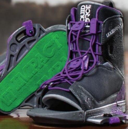 liquidforce transit womens bindings black, purple
