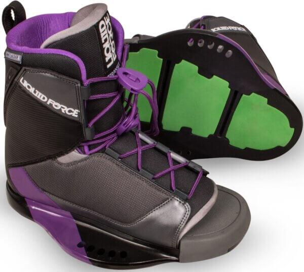 LiquidForce Womens Transit Binding Purple, Black, Grey