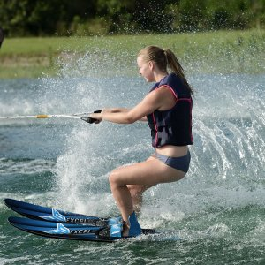 HO Sports Excel Combo Waterskis In Action