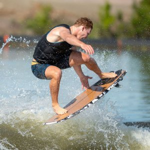 Hyperlite Time Machine 4.11 Wakesurfer In Action